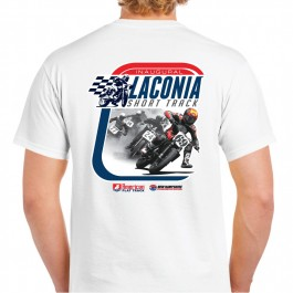 2019 Laconia Short Track Men's White Event T-Shirt