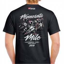 2019 Minnesota Mile Black Event T-Shirt