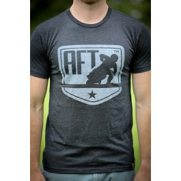 Pro Line: Black Tonal Shield Logo T-Shirt