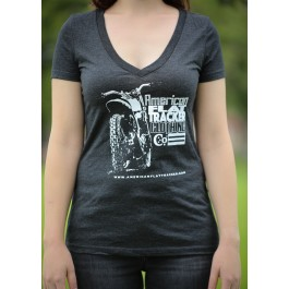 AFTCC Women's Rear Bike View V-Neck T-Shirt