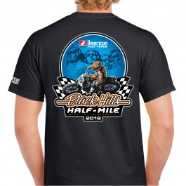 2019 Black Hills Half-Mile Black Event T-Shirt