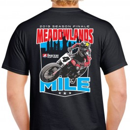 2019 Meadowlands Mile Black Event T-Shirt