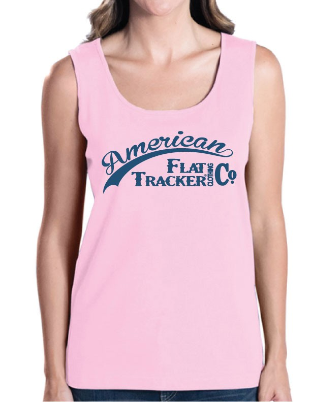 LADIES PINK TANK - AMERICAN FLAT TRACKER CLOTHING CO.
