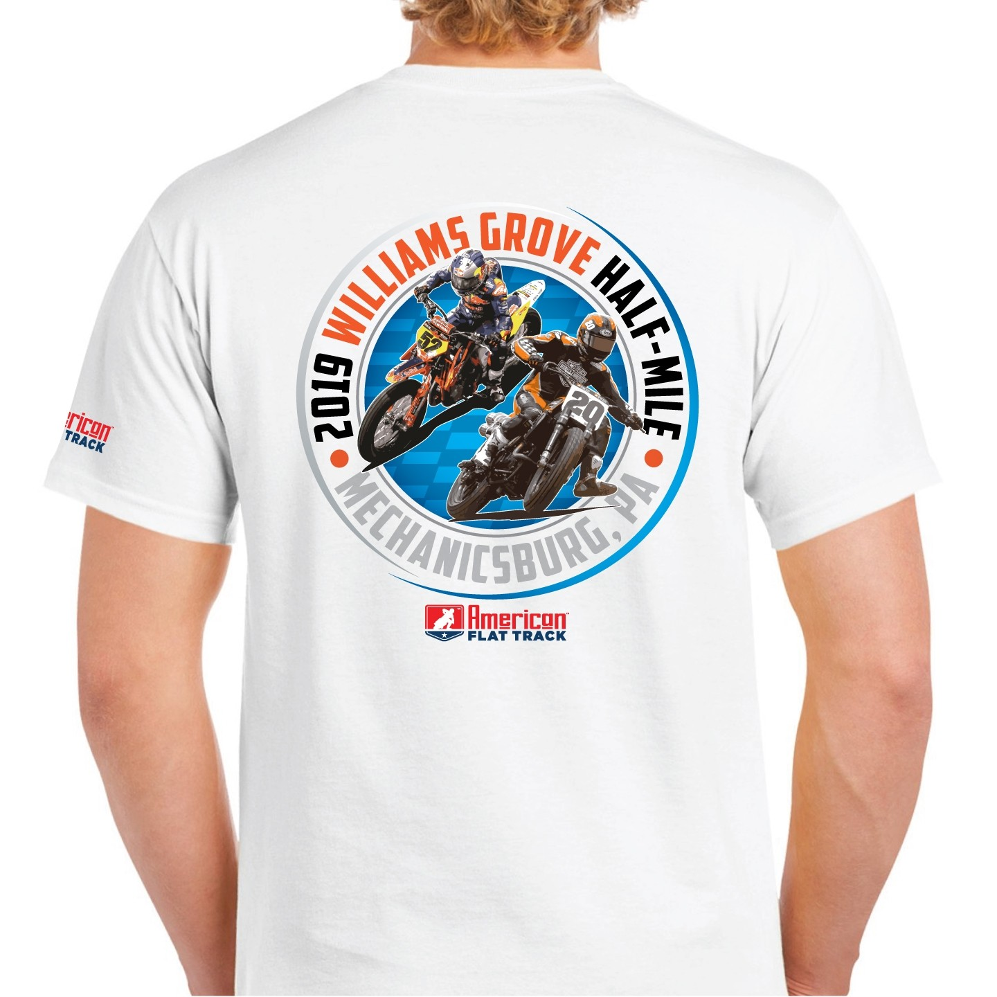 2019 Williams Grove Half-Mile White Event T-Shirt