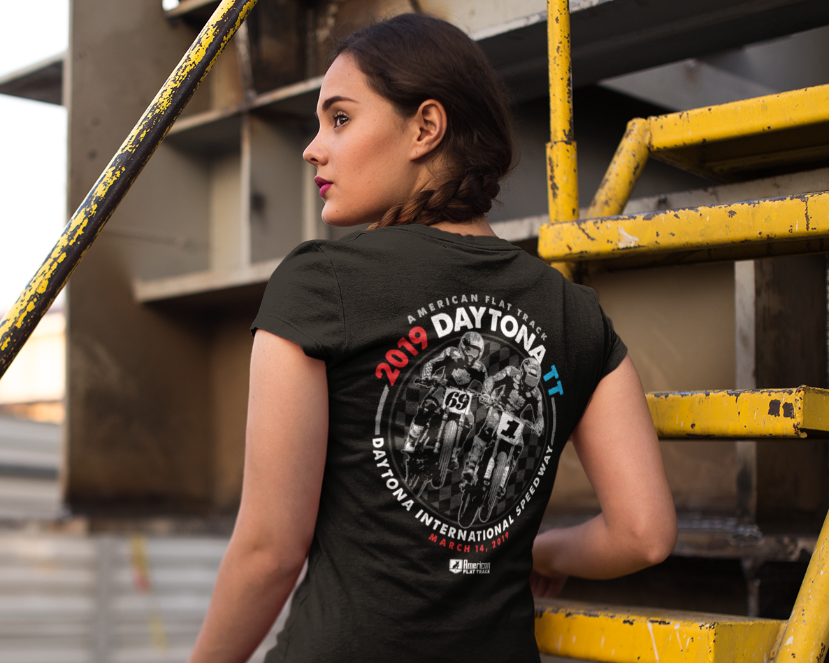 Event: 2019 Daytona TT - Women's V-Neck Tee Black