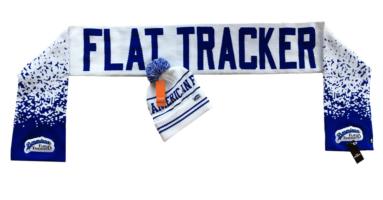 AMERICAN FLAT TRACKER KNIT CAP and SCARF SET - !! SALE !! 55% OFF!