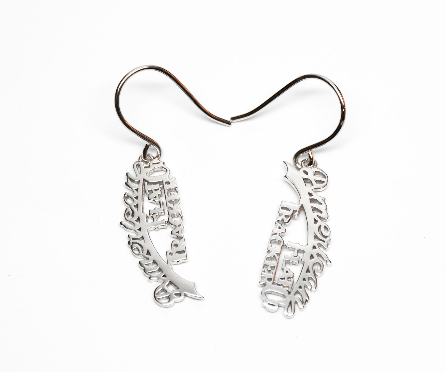 AMERICAN FLAT TRACKER STERLING SILVER EARRINGS