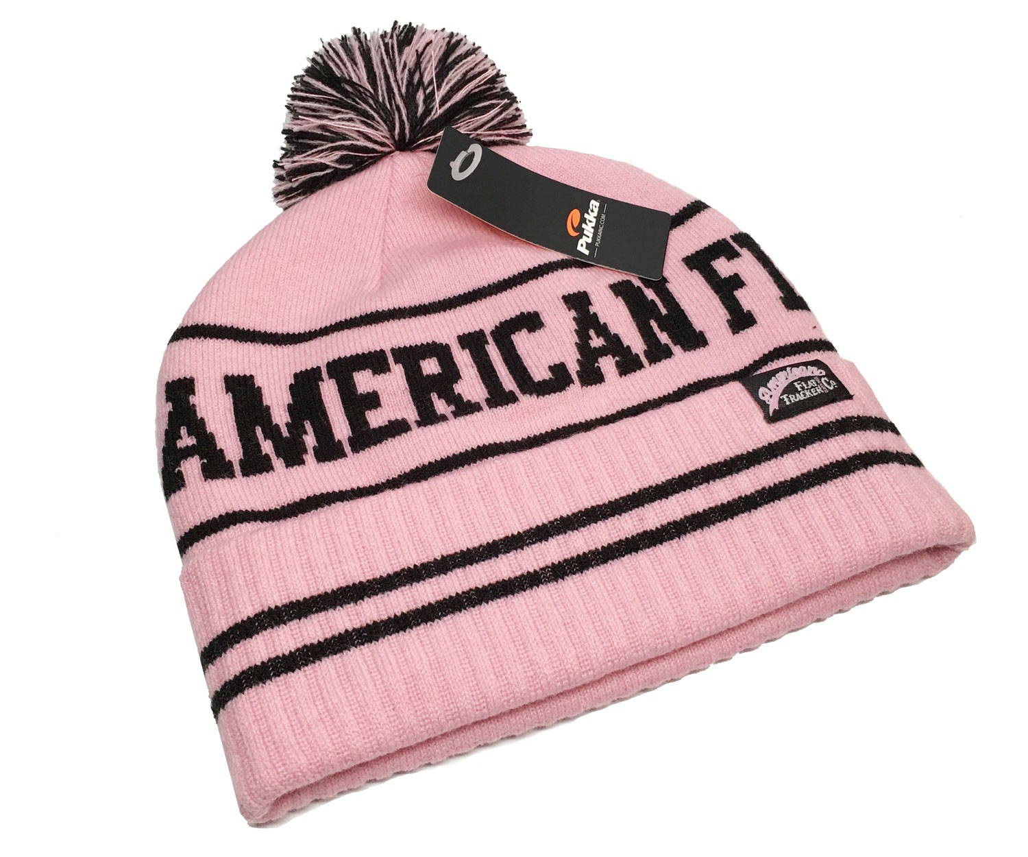 AMERICAN FLAT TRACKER KNIT CAP - PINK - !! SALE !! 67 % OFF