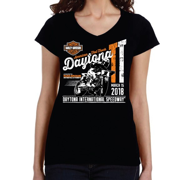 Event: 2018 DAYTONA TT - Women's S/S Black V-Neck