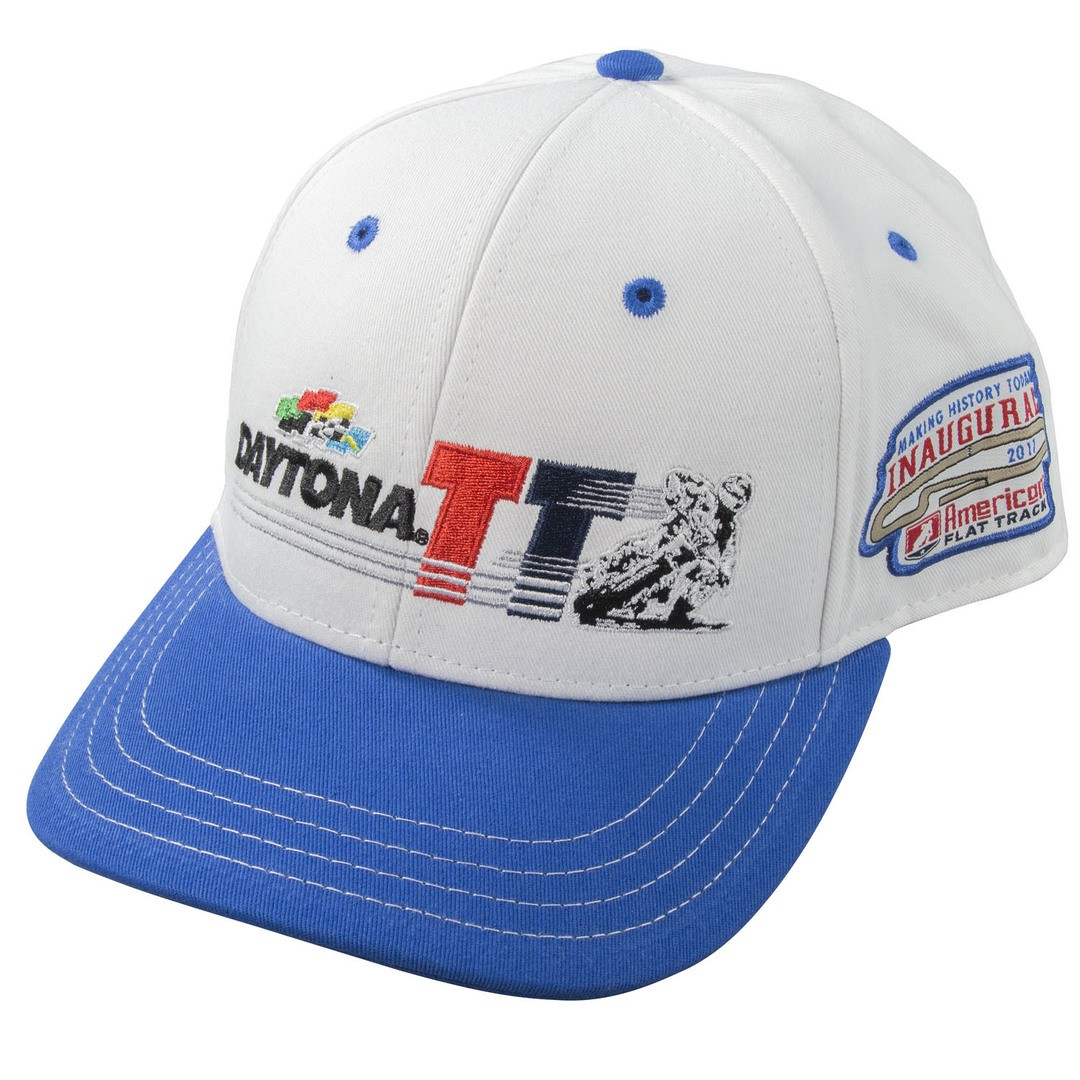 Event: 2017 Hat - Daytona TT Snapback White Blue
