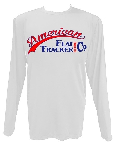 AFTCC: Long Sleeve Moisture Wicking Athletic Shirts - White Red