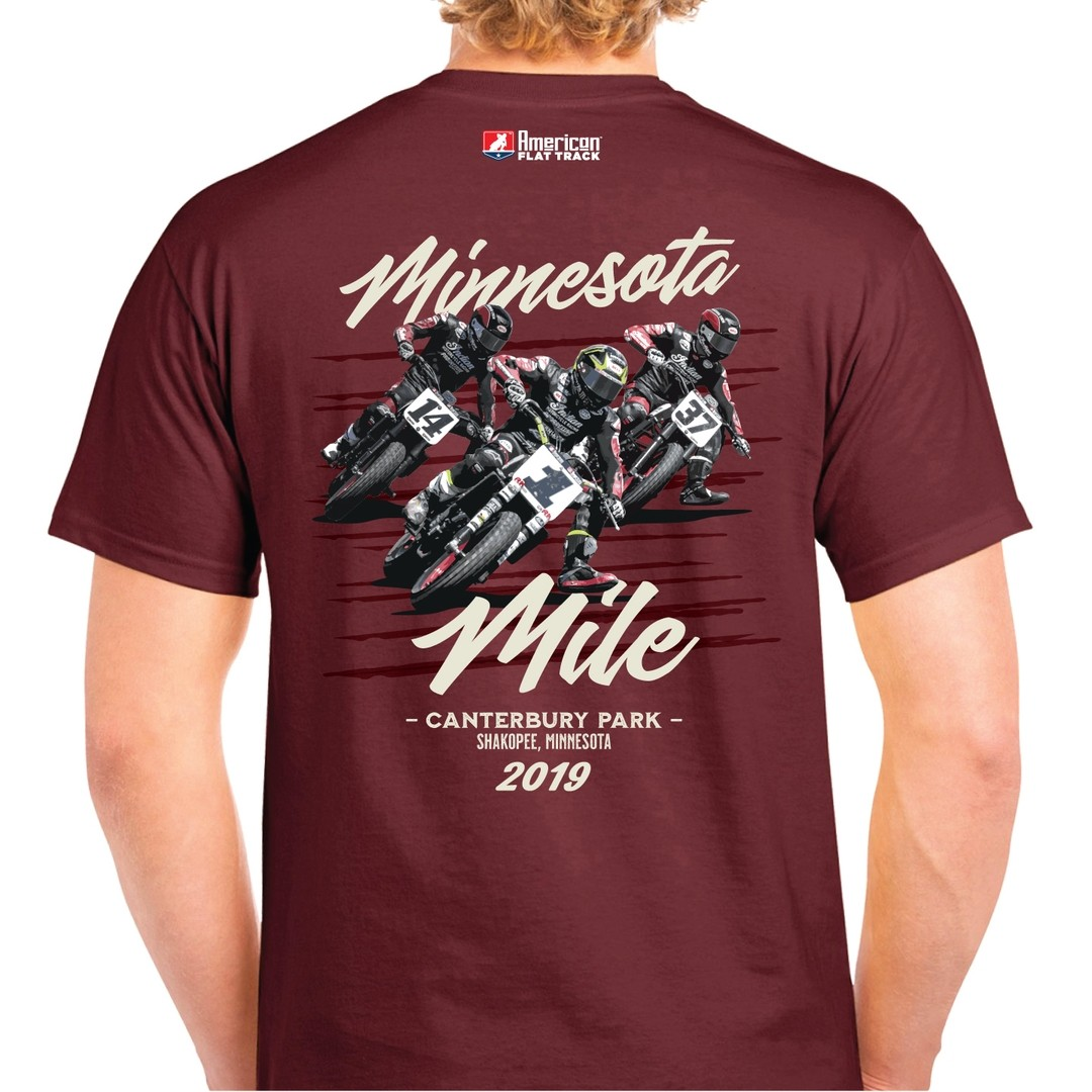 2019 Minnesota Mile Maroon Event T-Shirt