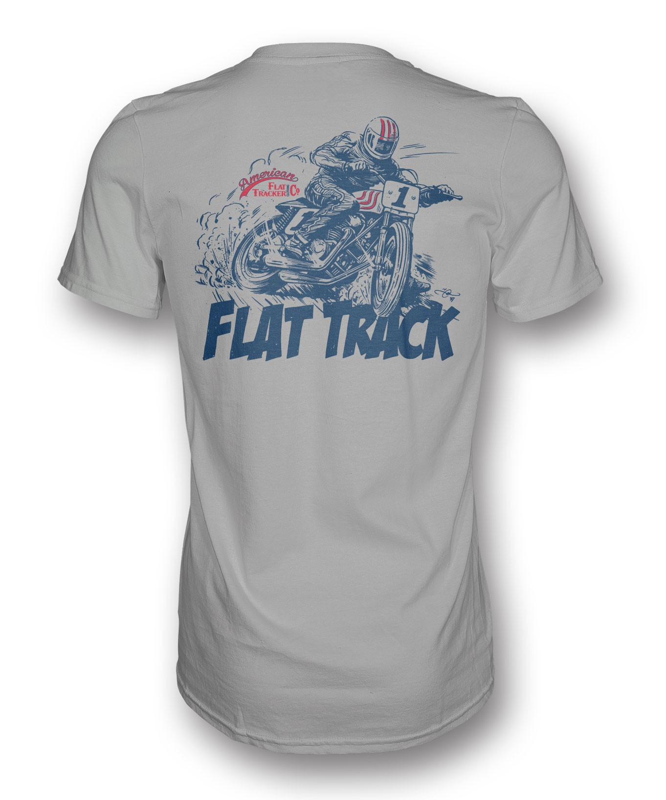 FLAT TRACK DESIGNED BY ADI GILBERT - FRONT AND BACK PRINT
