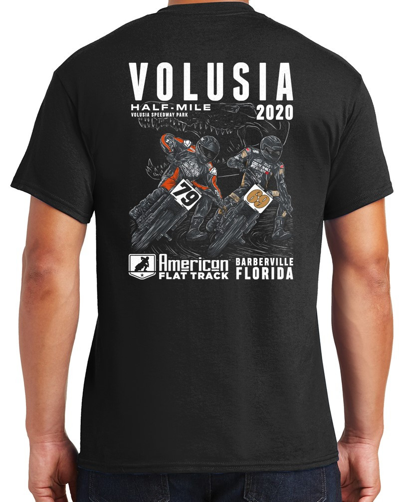 2020 Volusia Half-Mile Black Event T-Shirt