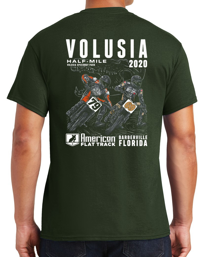 Event: Men's 2020 Volusia Half-Mile Forest Green T-Shirt