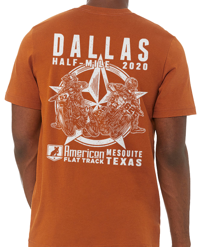 2020 Dallas Half-Mile Orange Event T-Shirt