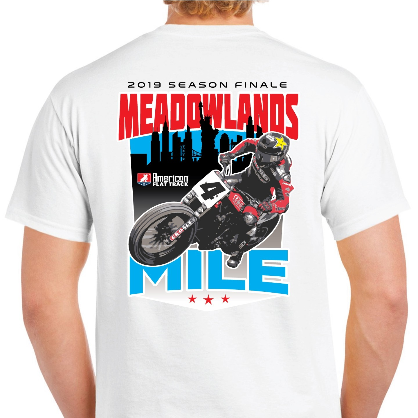 2019 Meadowlands Mile White Event T-Shirt