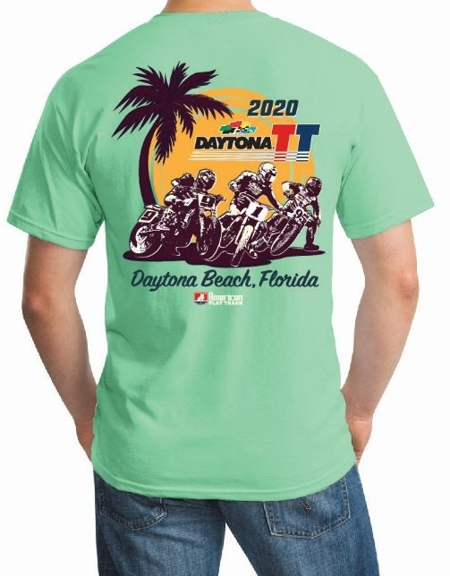 2020 Daytona TT Mint Green Event T-Shirt