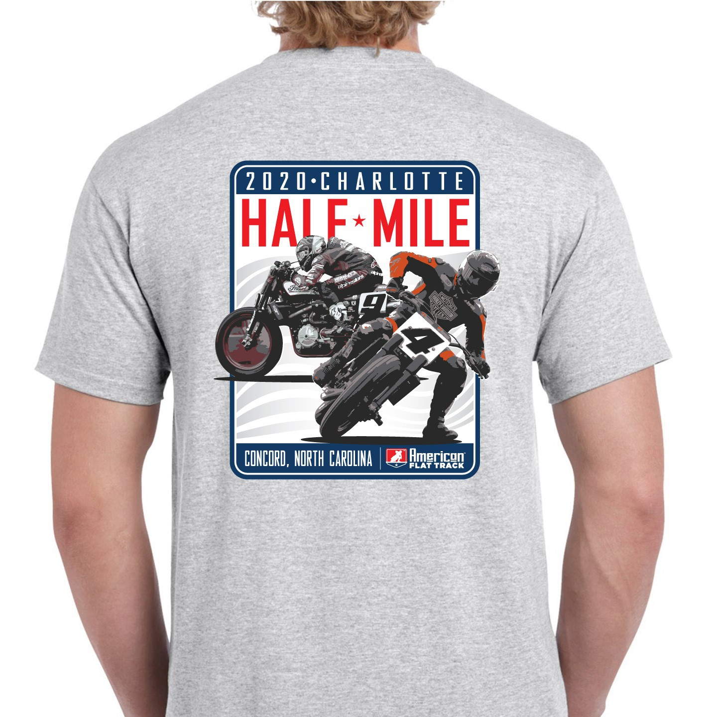 2020 Charlotte Half-Mile Men's Grey Event T-Shirt