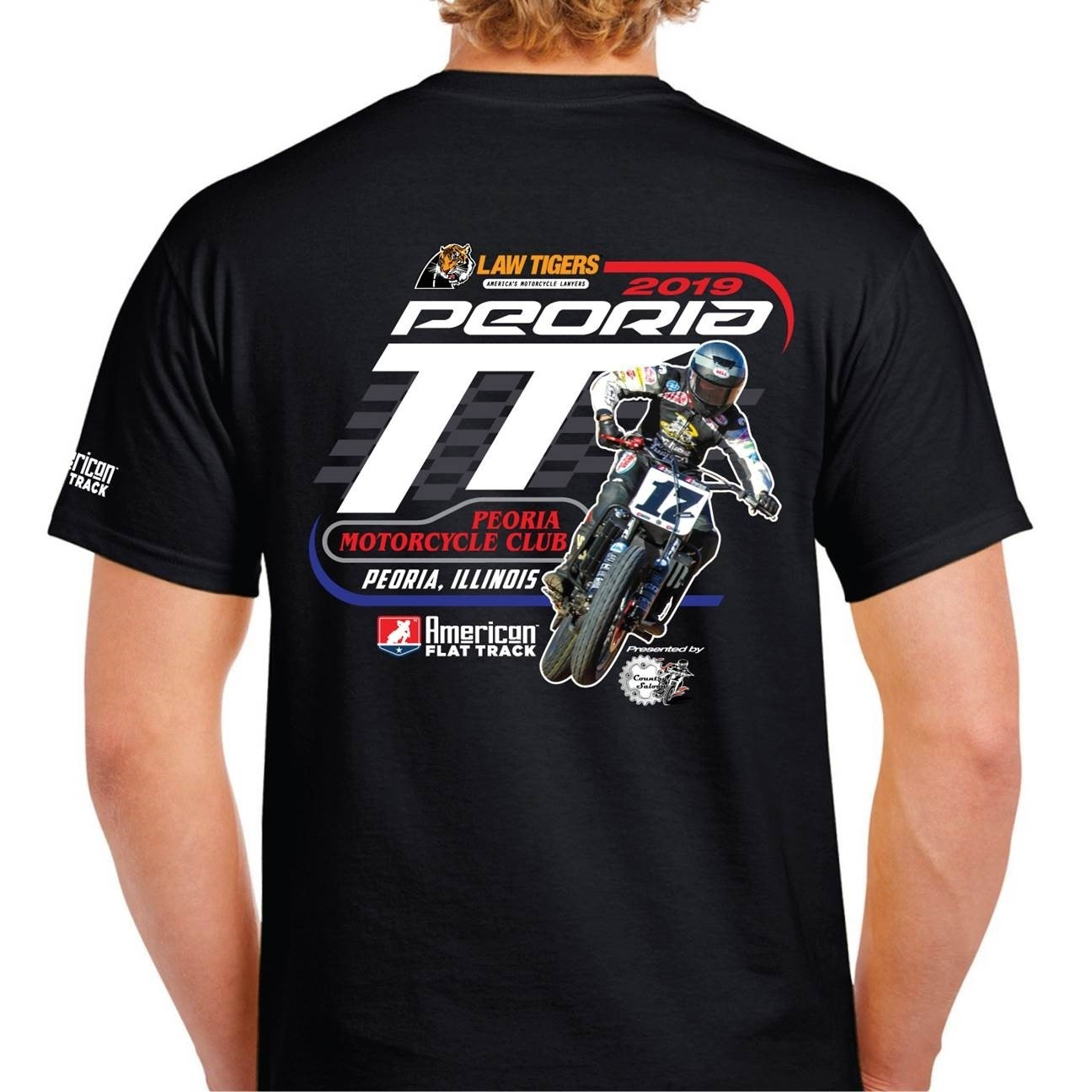 2019 Peoria TT Black Event T-Shirt
