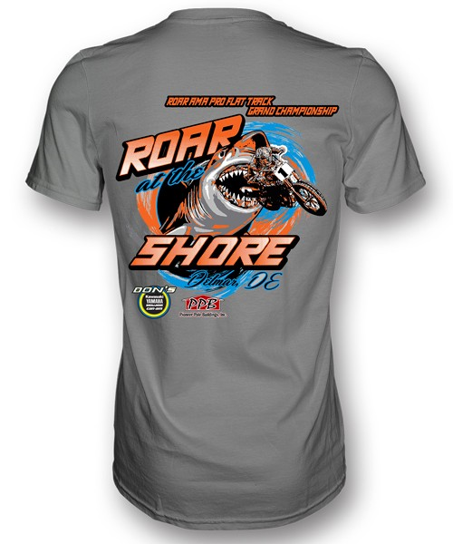 """ROAR ON THE SHORE"" 2015 EVENT T - FRONT AND BACK PRINT"