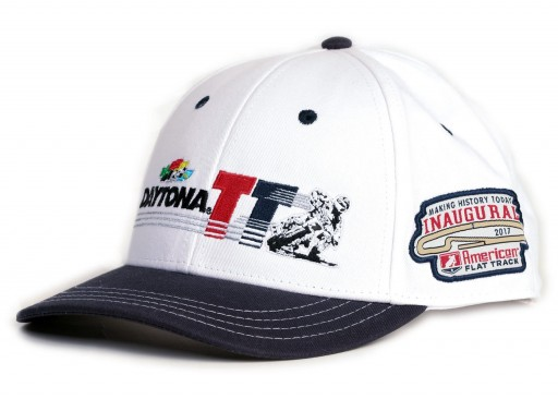 2017 Daytona TT Men's White/Navy Blue Event Hat