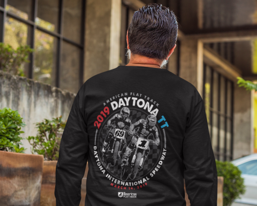 2019 Daytona TT Men's Black Long Sleeve Event T-Shirt