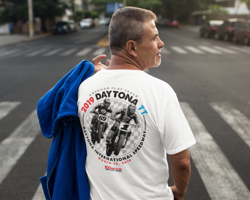 2019 Daytona TT Men's White Event T-Shirt
