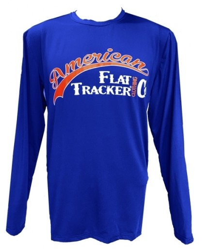 AFTCC: Long Sleeve Moisture Wicking Athletic Shirts - Blue Orange