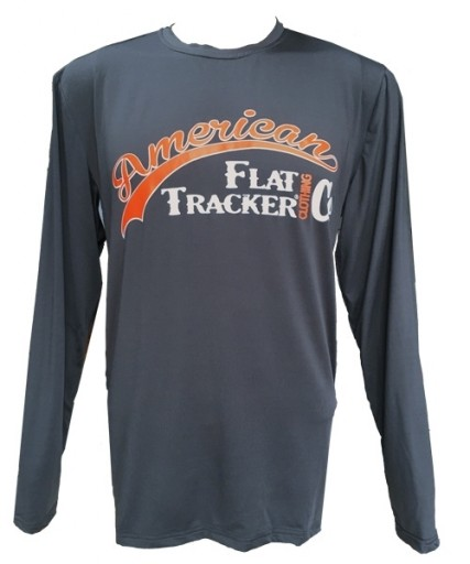 AFTCC: Long Sleeve Moisture Wicking Athletic Shirts - Dark Grey Orange