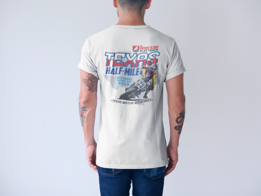 2019 Texas Half-Mile Men's White Event T-Shirt