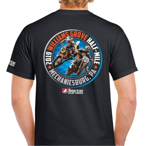 2019 Williams Grove Half-Mile Black Event T-Shirt