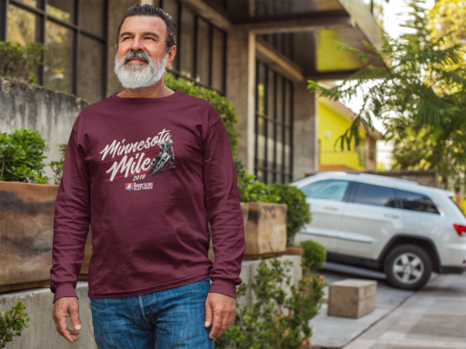 2019 Minnesota Mile Long Sleeve Event T-Shirt