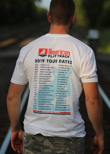2019 Men's White Event Schedule T-Shirt