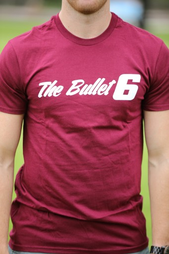 Brad Baker: The Bullet Maroon T-Shirt