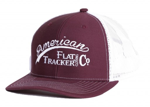 AFTCC: Maroon White Snapback Hat
