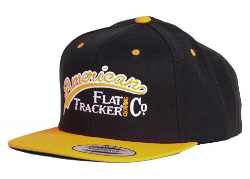 AFTCC: Flat Bill Black Orange Snapback Hat