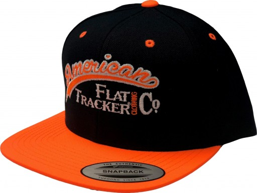AFTCC: 2018 Hat -  Snapback Flatbill Black Orange