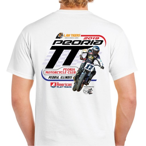 2019 Peoria TT White Event T-Shirt