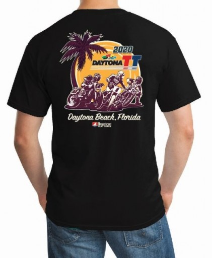 2020 Daytona TT Black Event T-Shirt