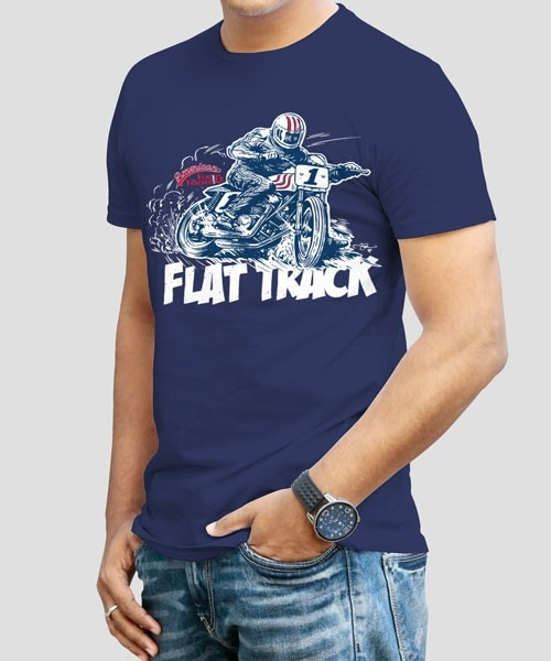 FLAT TRACK DESIGNED BY ADI GILBERT - FRONT PRINT ONLY
