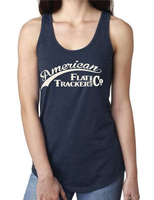 LADIES NAVY TANK - AMERICAN FLAT TRACKER CLOTHING CO. - !! SALE !!