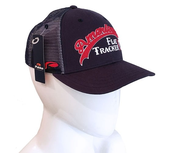 American Flat Tracker Logo NAVY Pearl Stitched Mesh SNAPBACK !! SALE !! 33% OFF
