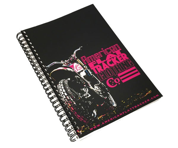 American Flat Tracker Notebooks - Red or Pink
