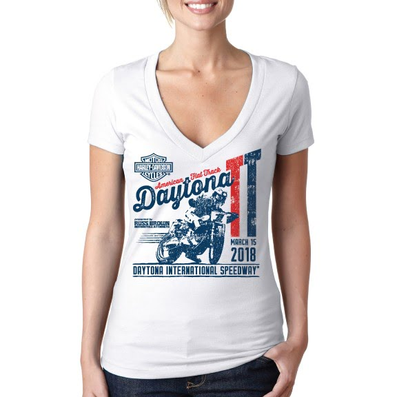 Event: 2018 DAYTONA TT - Women's S/S White V-Neck