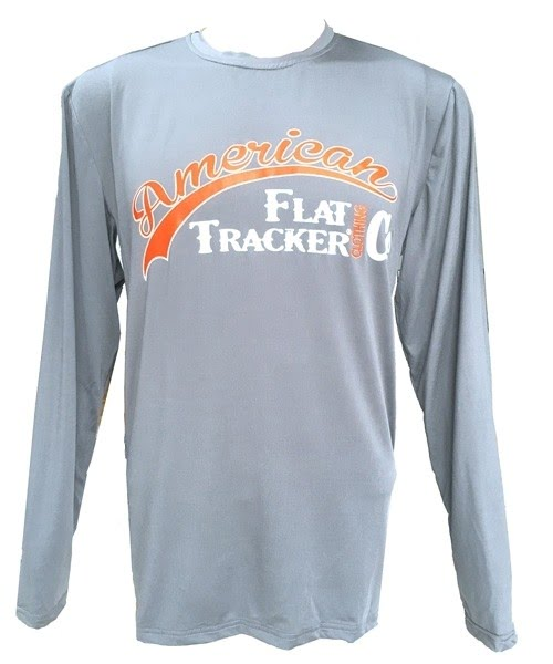 AFTCC: Long Sleeve Moisture Wicking Athletic Shirts - Light Grey Orange