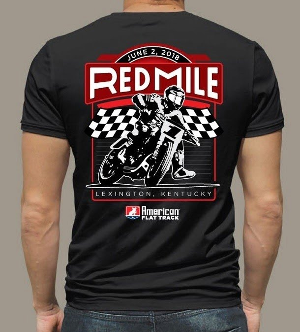 red mile event merchandise american flat tracker clothing co