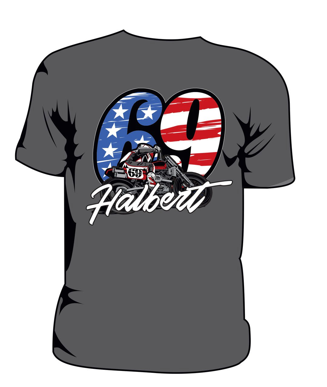 Halbert: Shirt - RWB (2018) - Grey