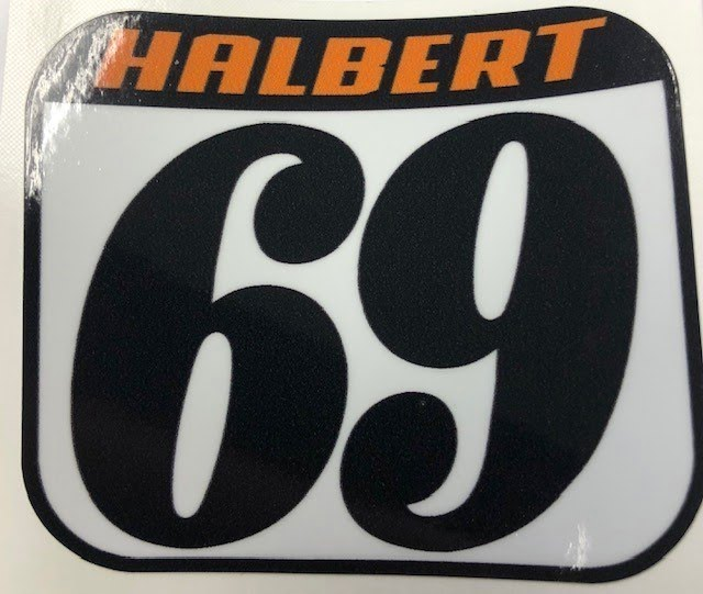 Halbert Sticker- 69 Plate