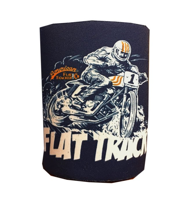 FLAT TRACK - Adi Gilbert Inspired Can Koozie by Kolder, Inc.